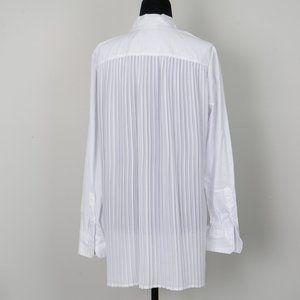 NWT Edit by Jeanne Beker pleated shirt - 6/8